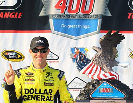 NASCARスプリント・カップ Windows 10 400 マット・ケンゼス 1位!